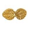 Bronze Hook & Eye Leaves 19x15mm